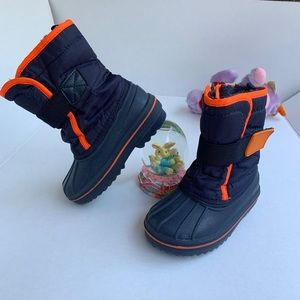 The Childrens Place Kids Winter Snow Boots Navy